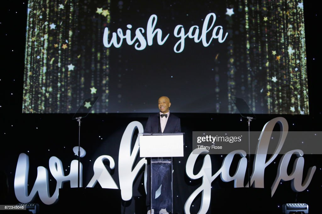 Music producer Russell Simmons speaks onstage at the 2017 Make a Wish Gala on November 9, 2017 in Los Angeles, California.