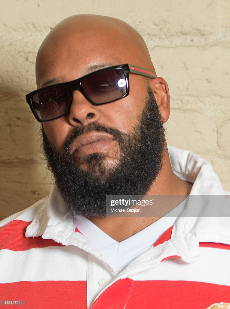 Music producer <a gi-track='captionPersonalityLinkClicked' href=/galleries/search?phrase=Suge+Knight&family=editorial&specificpeople=228893 ng-click='$event.stopPropagation()'>Suge Knight</a> attends Posing Heroes, 'A Dog Day Afternoon' Benefiting A Wish For Animals on March 30, 2013 in Los Angeles, California.