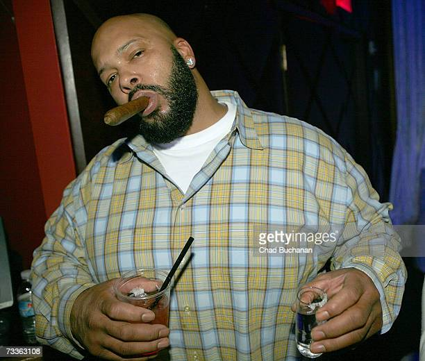 Music producer Suge Knight attends the Belvedere Ultra Lounge Day 4 At Club OPM on February 17 2007 in Las Vegas Nevada
