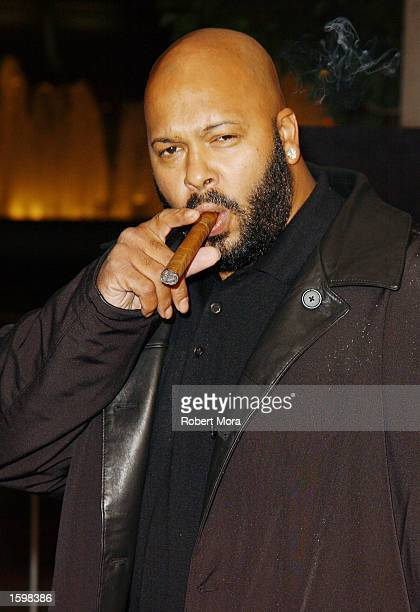 Music producer Suge Knight attends the Los Angeles premiere of 'Half Past Dead' at Loews Century Plaza Cinema on November 7 2002 in Century City...