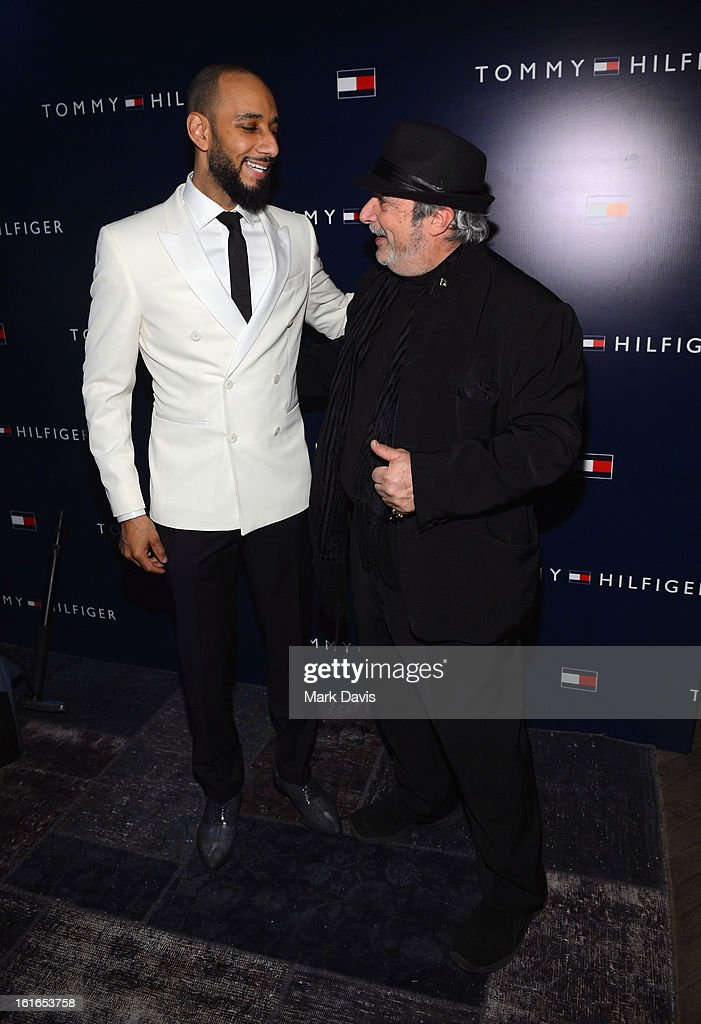Music producer Swizz Beatz (L) and music producer Robert King attend Tommy Hilfiger New West Coast Flagship Opening After Party at a Private Club on February 13, 2013 in West Hollywood, California.