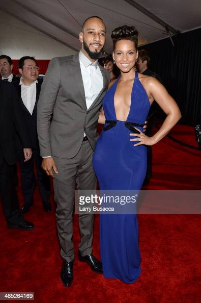 Music Producer Swizz Beatz and musician Alicia Keys attend the 56th GRAMMY Awards at Staples Center on January 26 2014 in Los Angeles California