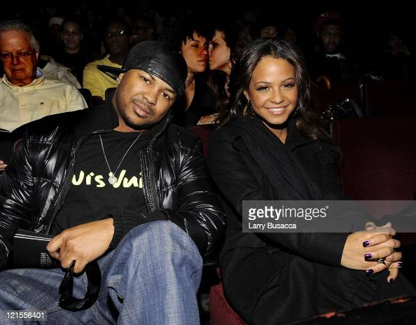 Music producer TheDream with Singer Songwriter Christina Milian attend TheDream 'Love Vs Money' Listening Party at New World Stages on January 28...