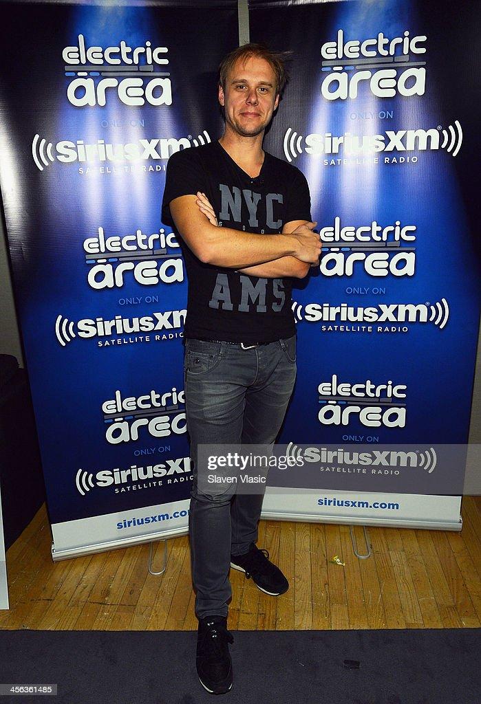 Music producer/DJ Armin van Buuren attends 'Armin Only' hosted by Ben Harvey on BPM at SiriusXM Studios on December 13, 2013 in New York City.