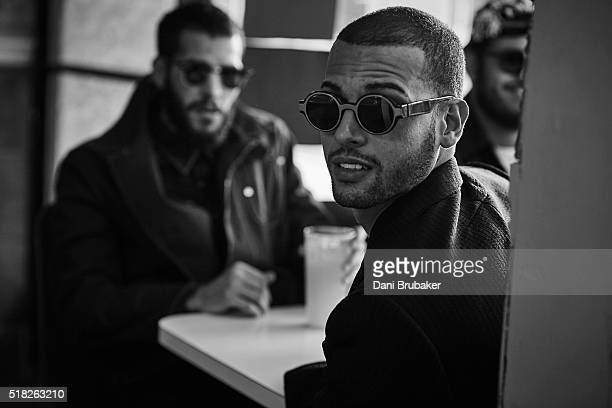 DJ music producers and remixers The Martinez Brothers are photographed for Flaunt Magazine on November 4 2015 in El Segundo California
