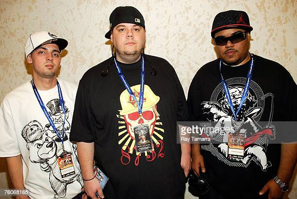 Music producers Kenny Coliono and Rook of the Justice League attend the second day of the TJ's DJ's 2nd Annual Tastemakers Music Conference at the...