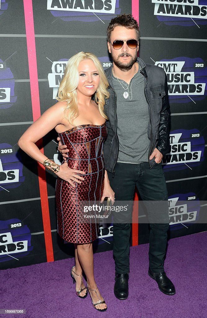 Music publisher Katherine Blasingame and singer Eric Church attend the 2013 CMT Music awards at the Bridgestone Arena on June 5 2013 in Nashville...