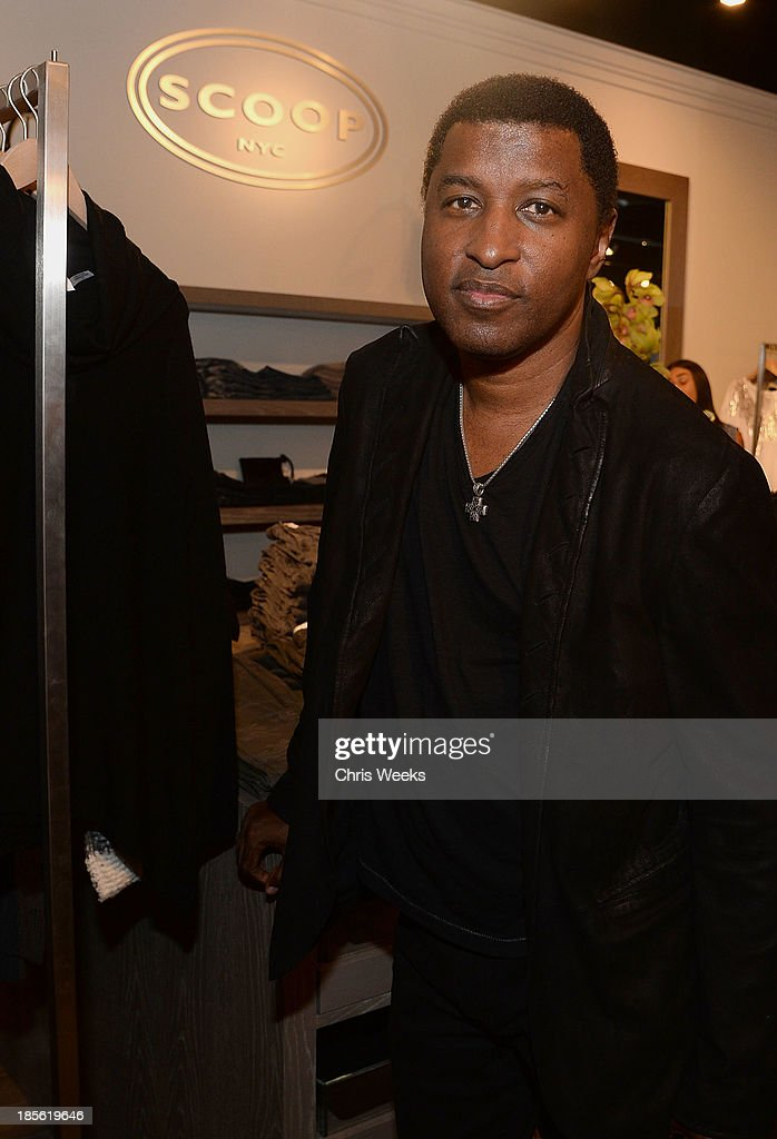 Music recording artist Kenneth '<a gi-track='captionPersonalityLinkClicked' href=/galleries/search?phrase=Babyface&family=editorial&specificpeople=227435 ng-click='$event.stopPropagation()'>Babyface</a>' Edmonds attends the Scoop NYC event at Scoop NYC on October 22, 2013 in Beverly Hills, California.