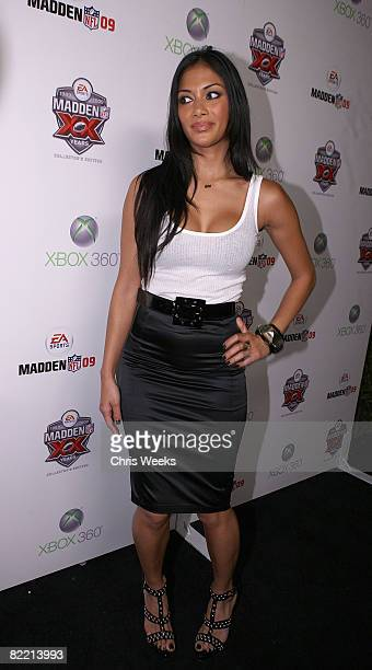 Music recording artist Nicole Scherzinger of the Pussycat Dolls attends the 20th Anniversary of the Madden NFL franchise hosted by EA Sports at STK...