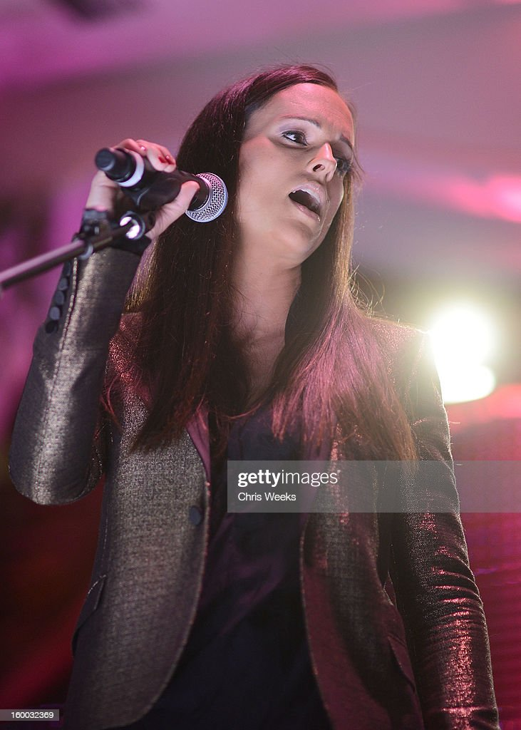 Music recording artist Nova performs at the Voice Health Institute's 'Raise Your Voice' benefit at Beverly Hills Hotel on January 24, 2013 in Beverly Hills, California.