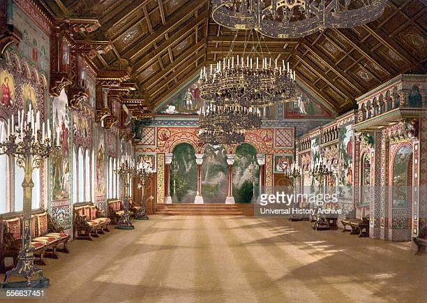 Music Room Neuschwanstein Castle Upper Bavaria Germany 1890