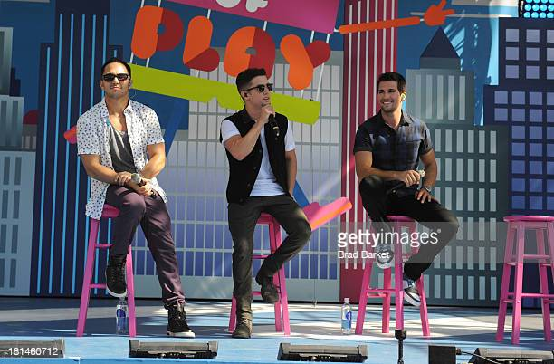 Music sensation Big Time Rush takes the stage at Nickelodeon's 10th Annual Worldwide Day of Play in Brooklyn's Prospect Park on September 21 2013 in...