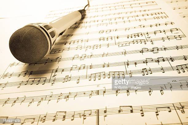 Music sheet and microphone