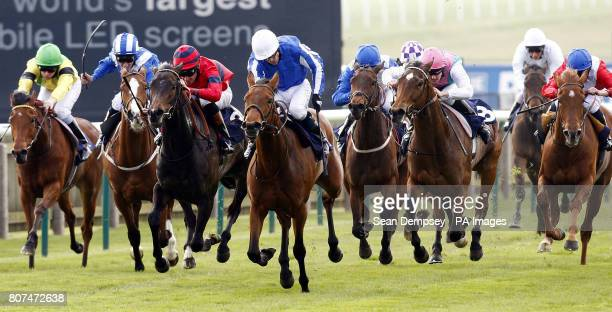 Music Show ridden by jockey Kieren Fallon goes on to win the Leslie Harrison Memorial Nell Gwyn Stakes during the Craven Meeting at Newmarket...
