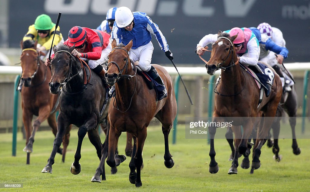 Music Show ridden by Kieren Fallon wins the Leslie Harrison Memorial Nell Gwyn Stakes at Newmarket Racecourse on April 14 2010 in Newmarket England