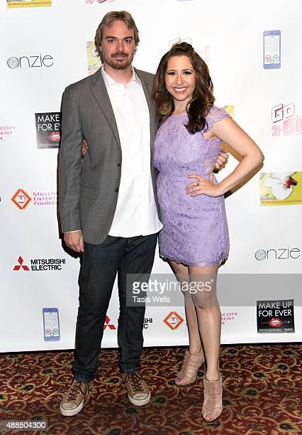 Music supervisor Kyle Drury and actress/Liv Out Loud creator Ashley Gianni pose for portrait at Premiere Party For 'Liv Out Loud' at Akbar on...