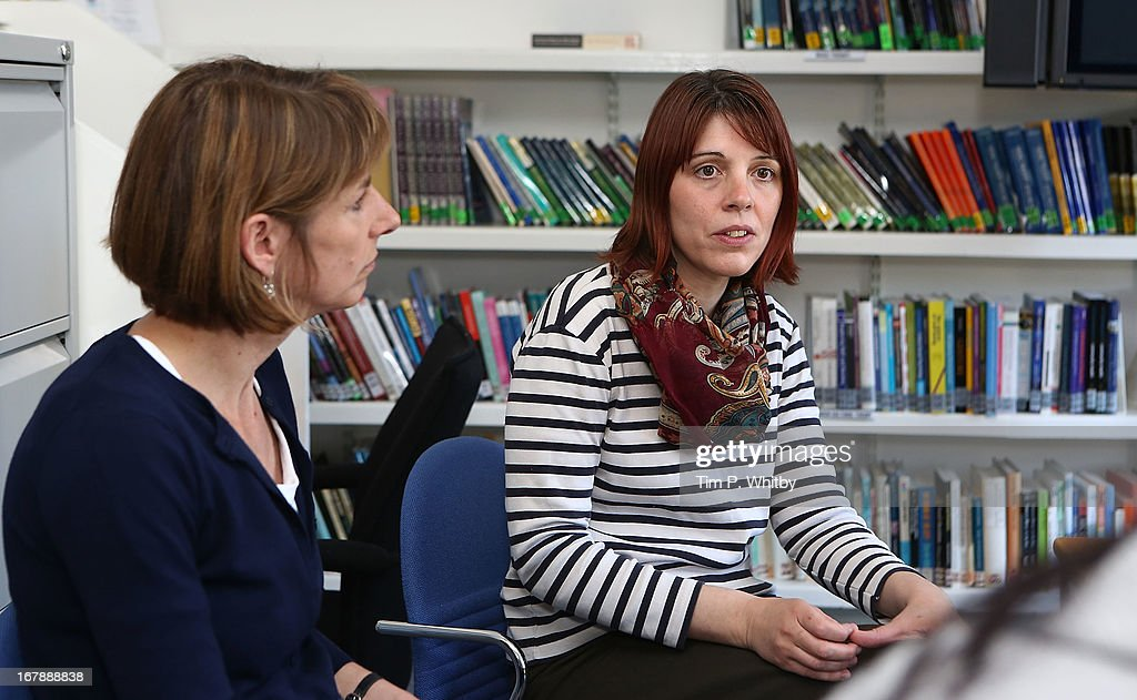 Music therapist Claire Hope (right) during a visit to the Nordoff Robbins Music Therapy Centre on May 2, 2013 in London, England.