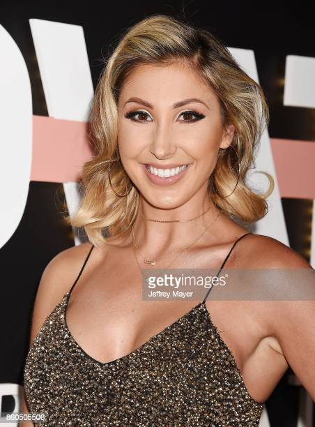 Music video director Hannah Lux Davis arrives at the Premiere Of YouTube's 'Demi Lovato Simply Complicated' at the Fonda Theatre on October 11 2017...