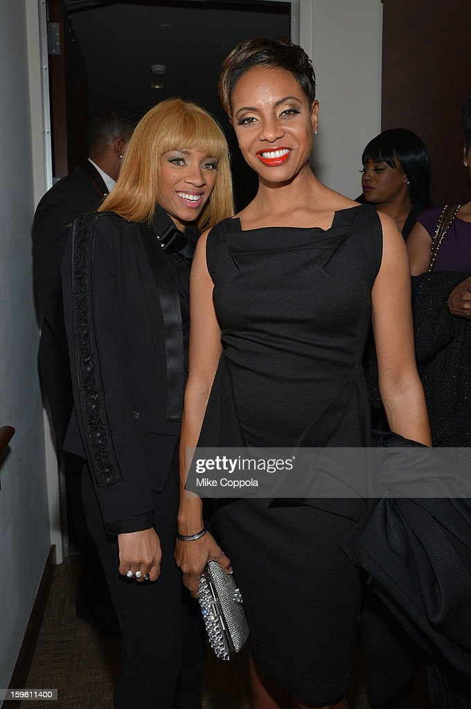 Musicains Lil' Mama and MC Lyte attend The Hip Hop Inaugural Ball II sponsored by Heineken USA at Harman Center for the Arts on January 20 2013 in...