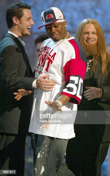 Musical Artist 50 Cent interrupts Evanescence's Grammy Acceptance at the 46th Annual Grammy Awards held at the Staples Center on February 8 2004 in...