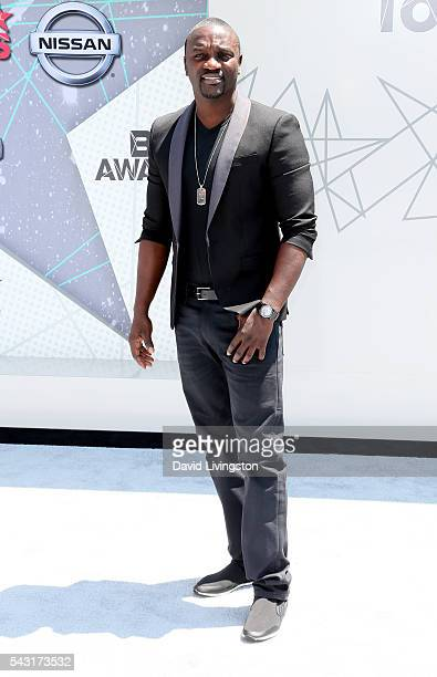 Musical artist Akon attends the 2016 BET Awards at Microsoft Theater on June 26 2016 in Los Angeles California