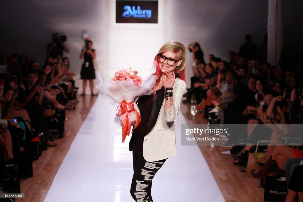 Musical artist and fashion desginer Avril Lavigne walks the runway in the Abbey Dawn By Avril Lavigne Spring 2013 fashion show at Metropolitan Pavilion on September 10, 2012 in New York City.