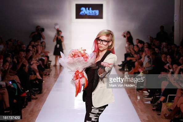 Musical artist and fashion desginer Avril Lavigne walks the runway in the Abbey Dawn By Avril Lavigne Spring 2013 fashion show at Metropolitan...