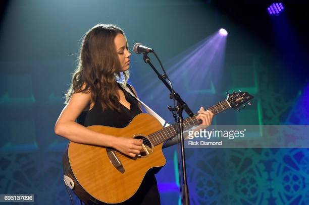 Musical artist Bailey Bryan performs onstage at the Innovation In Music Awards on June 6 2017 in Nashville Tennessee