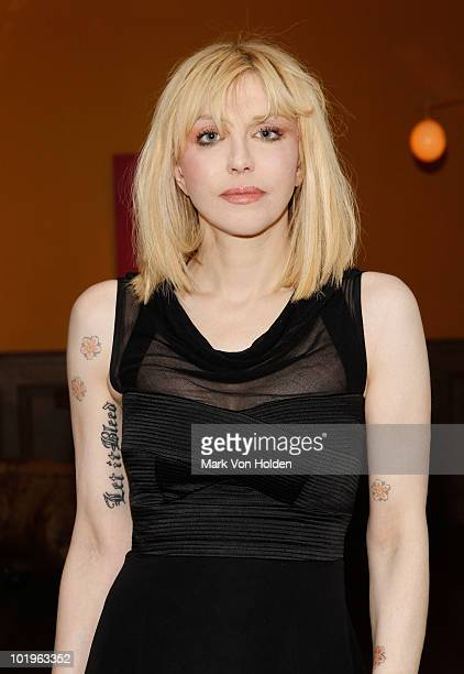 Musical artist Courtney Love attends a special screening of 'Cyrus' hosted by The Cinema Society and Verizon BlackBerry Bold>> at the Crosby Street...
