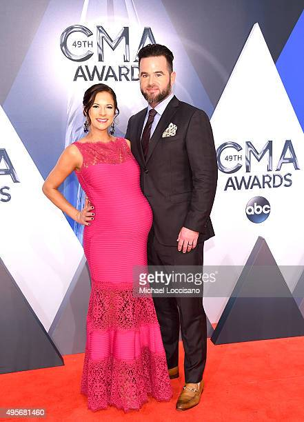 Musical artist David Nail and Catherine Werne attend the 49th annual CMA Awards at the Bridgestone Arena on November 4 2015 in Nashville Tennessee