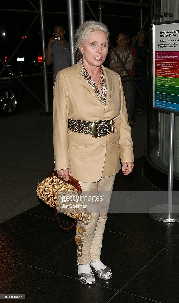 Musical artist Deborah Harry attends the Cinema Society and BlackBerry Torch screening of 'You Will Meet a Tall Dark Stranger' at MOMA on September...