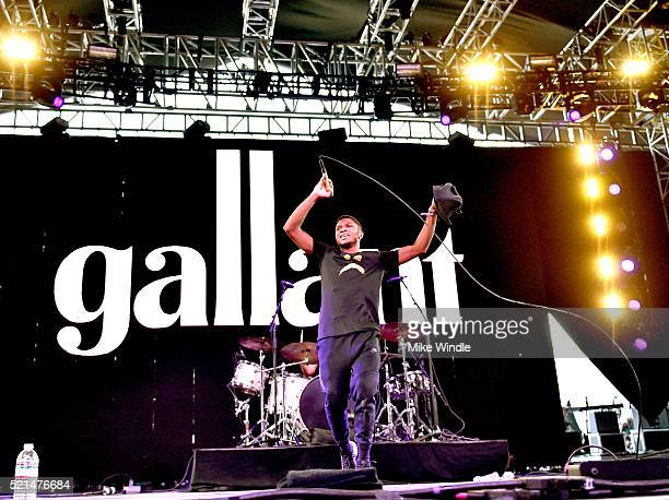 Musical artist Gallant performs onstage during day 1 of the 2016 Coachella Valley Music Arts Festival Weekend 1 at the Empire Polo Club on April 15...