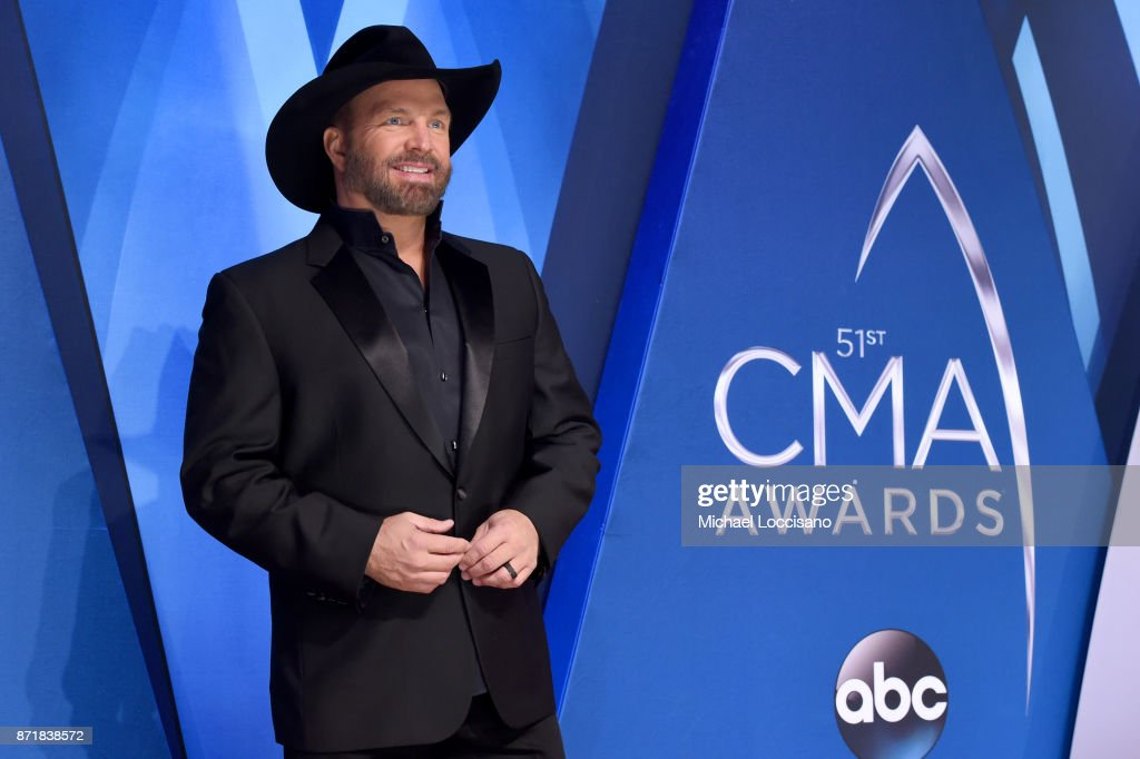 Musical artist Garth Brooks attends the 51st annual CMA Awards at the Bridgestone Arena on November 8, 2017 in Nashville, Tennessee.
