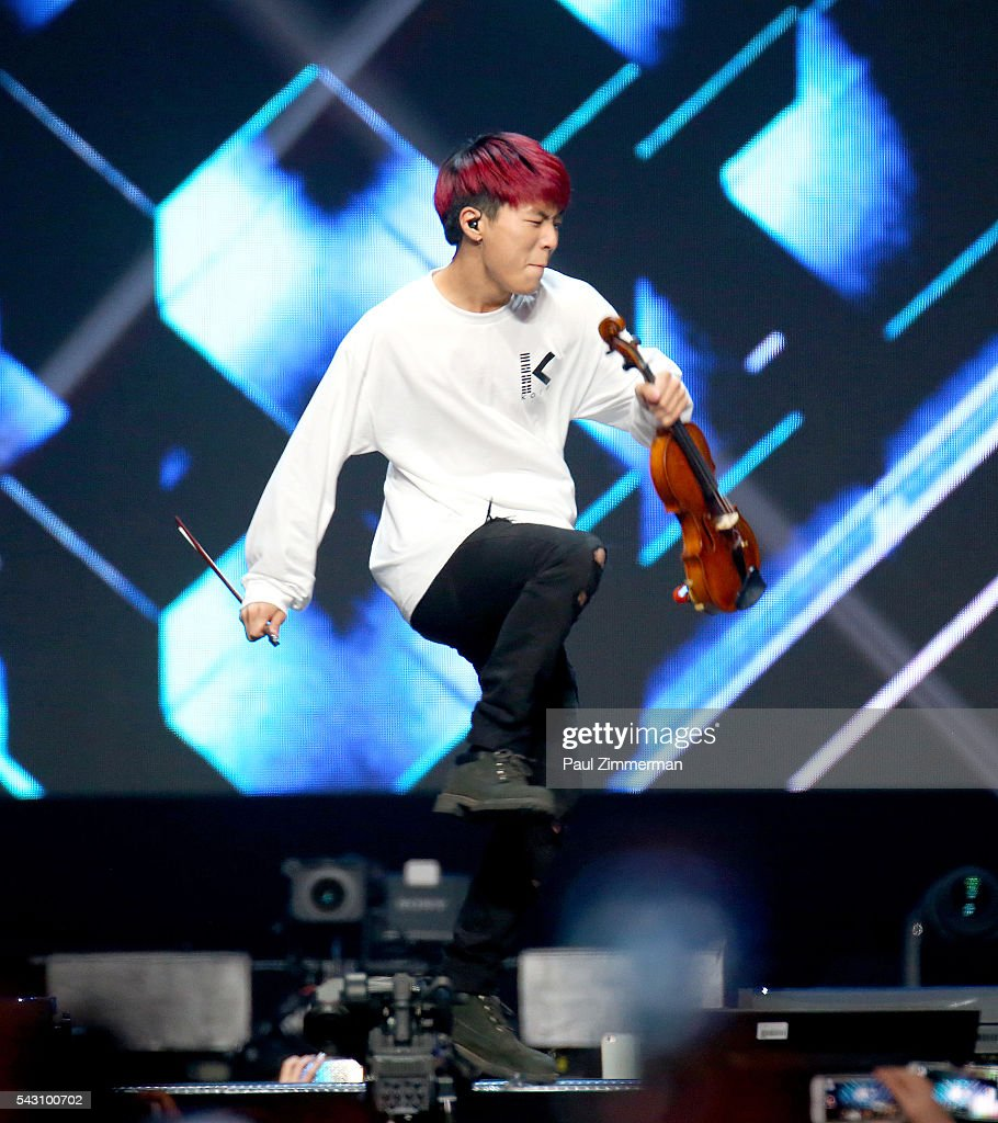 Musical artist Jun Sung Ahn performs onstage at KCON 2016 Day 2 at the Prudential Center on June 25, 2016 in Newark, New Jersey.