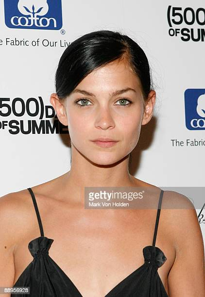 Musical artist Leigh Lezark attends a screening of '500 Days Of Summer' hosted by The Cinema Society with Brooks Brothers and Cotton at the Tribeca...