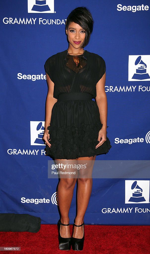 Musical artist Lianne La Havas arrives at the Grammy Foundation's 15th Annual Music Preservation Project at Saban Theatre on February 7, 2013 in Beverly Hills, California.