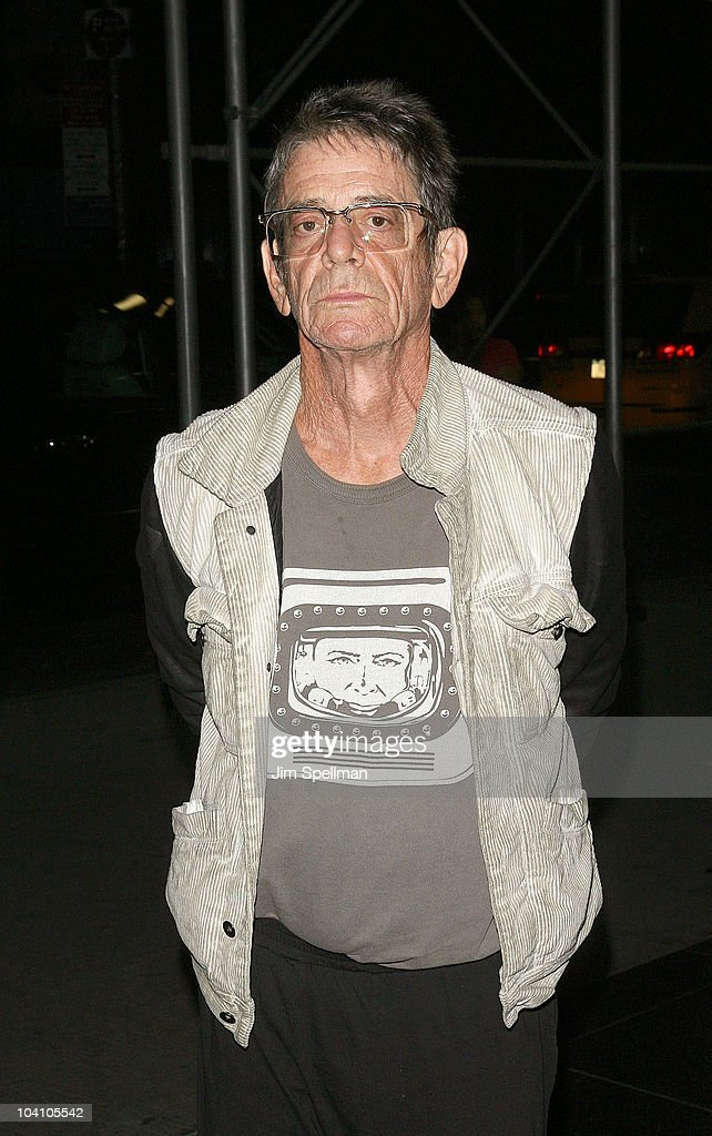 Musical artist Lou Reed attends the Cinema Society and BlackBerry Torch screening of 'You Will Meet a Tall Dark Stranger' at MOMA on September 14...