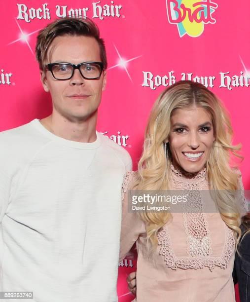 Musical artist Matt Slays and wife actress Rebecca Zamolo attend social media influencer Annie LeBlanc's 13th birthday party at Calamigos Beach Club...