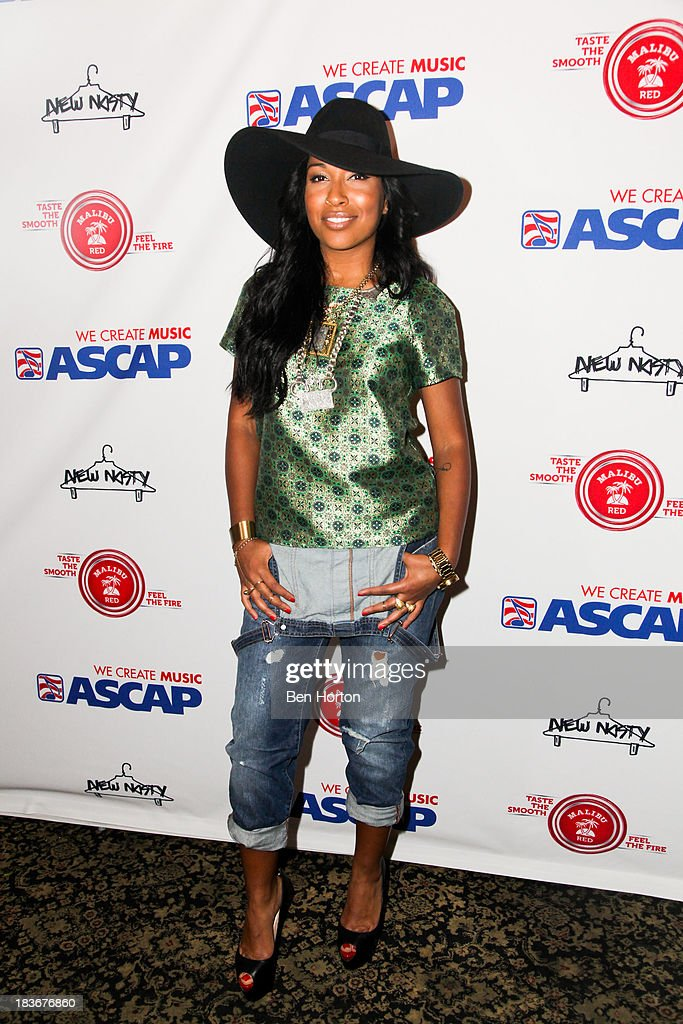 Musical artist Melanie Fiona attends ASCAP's 5th annual 'Women Behind The Music' series at Bardot on October 8 2013 in Los Angeles California