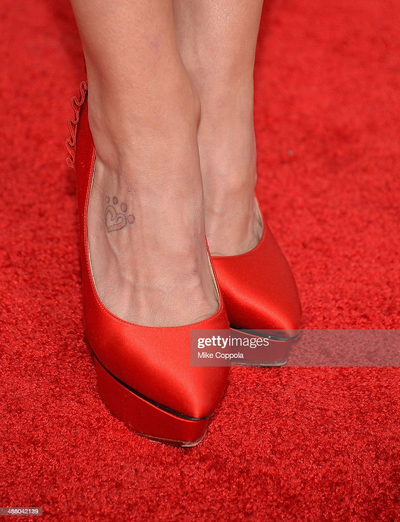 Musical artist Miranda Lambert (shoe detail) attends 140th Kentucky Derby at Churchill Downs on May 3, 2014 in Louisville, Kentucky.