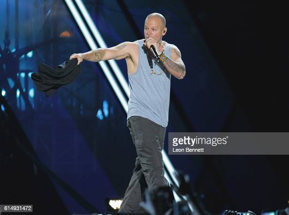Musical artist Rene 'Residente' Perez performs onstage at Univision and Fusion host RiseUp AS ONE at Cross Border Xpress on October 15 2016 in San...