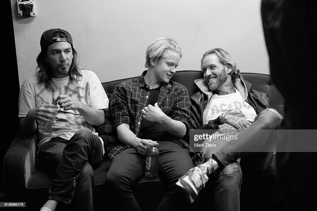 Musical artist Zac Carper and musician Max Becker of SWMRS and guest attend MTV's 'Wonderland' LIVE Show on October 27, 2016 in Los Angeles, California.