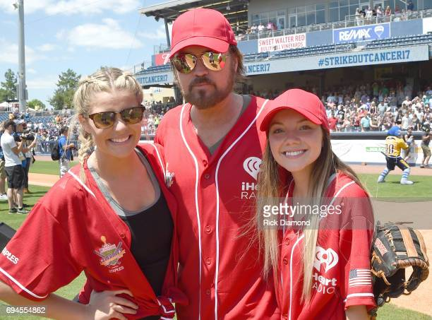Musical artists Lauren Alaina Billy Ray Cyrus and Danielle Bradbery attend the 27th Annual City of Hope Celebrity Softball Game at First Tennessee...