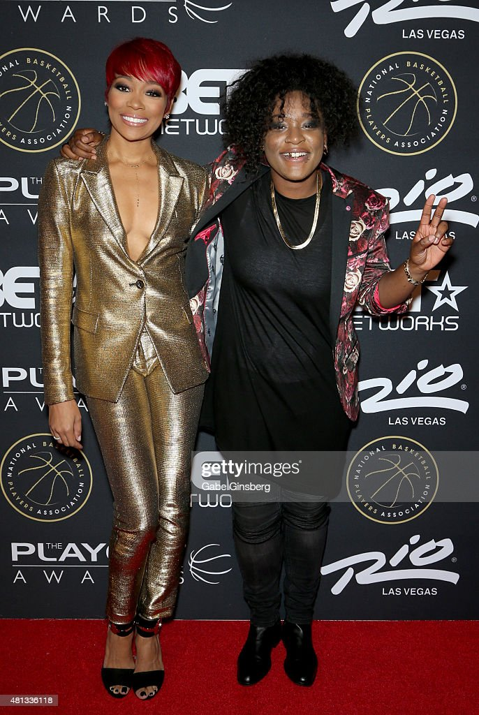 Musical artists Monica (L) and Jo'zzy attend The Players' Awards presented by BET at the Rio Hotel & Casino on July 19, 2015 in Las Vegas, Nevada.