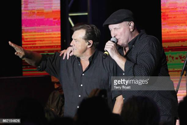 Musical artists Sammy Kershaw and Collin Raye perform onstage at the United Talent Agency party during the IEBA 2017 Conference on October 16 2017 in...