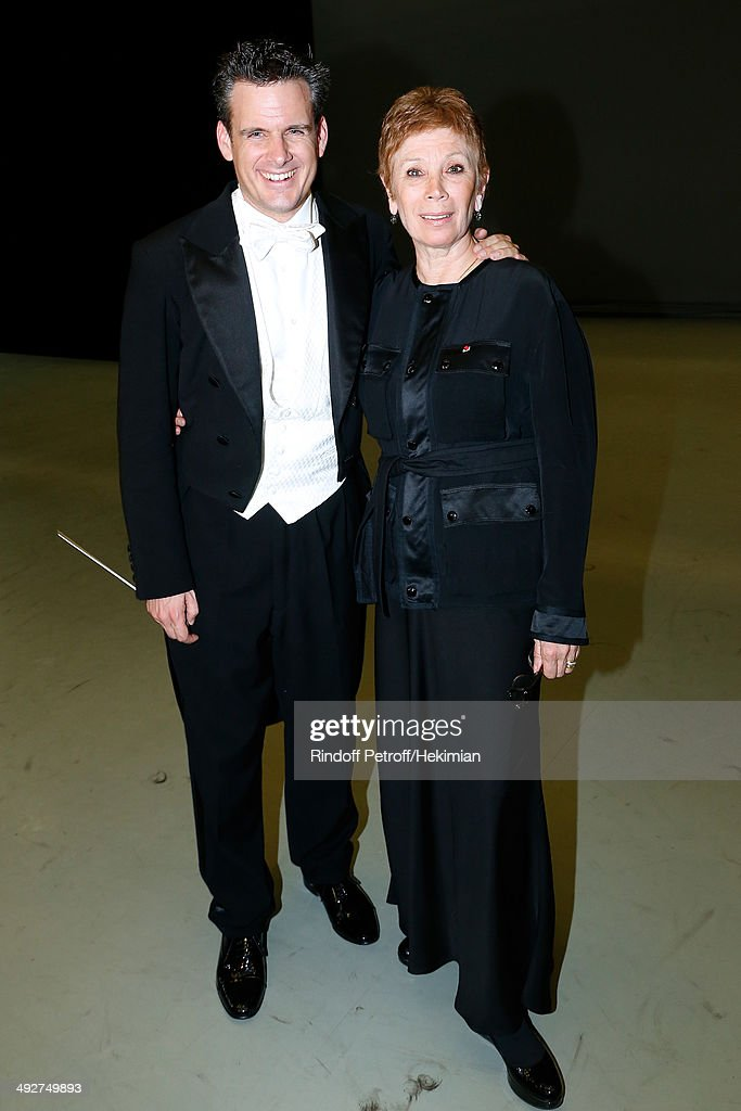 Musical Direction of the show Philippe Jordan and Dance Director of the 'Opera de Paris' Brigitte Lefevre attend the AROP Charity Gala. Held at Opera Bastille on May 21, 2014 in Paris, France.