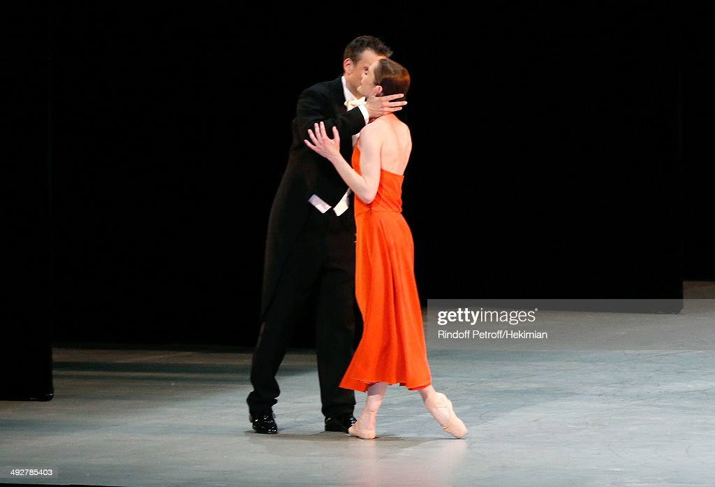 Musical Direction of the show Philippe Jordan and Star Dancer Aurelie Dupont who performed in 'Daphnis et Chloe' show at the AROP Charity Gala. Held at Opera Bastille on May 21, 2014 in Paris, France.