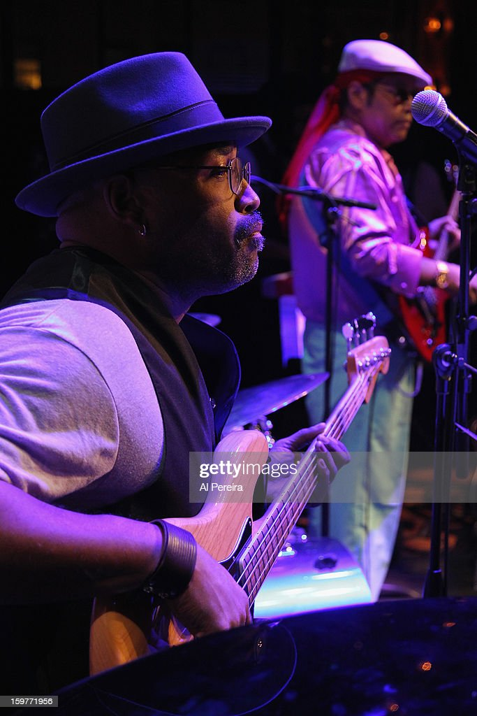 Musical Director and Bassist Darrell M. McNeill and the Black Rock Coalition Orchestra performs at the Black Rock Coalition Orchestra Salutes Richie Havens event at Brooklyn Academy of Music on January 19, 2013 in the Brooklyn borough of New York City.