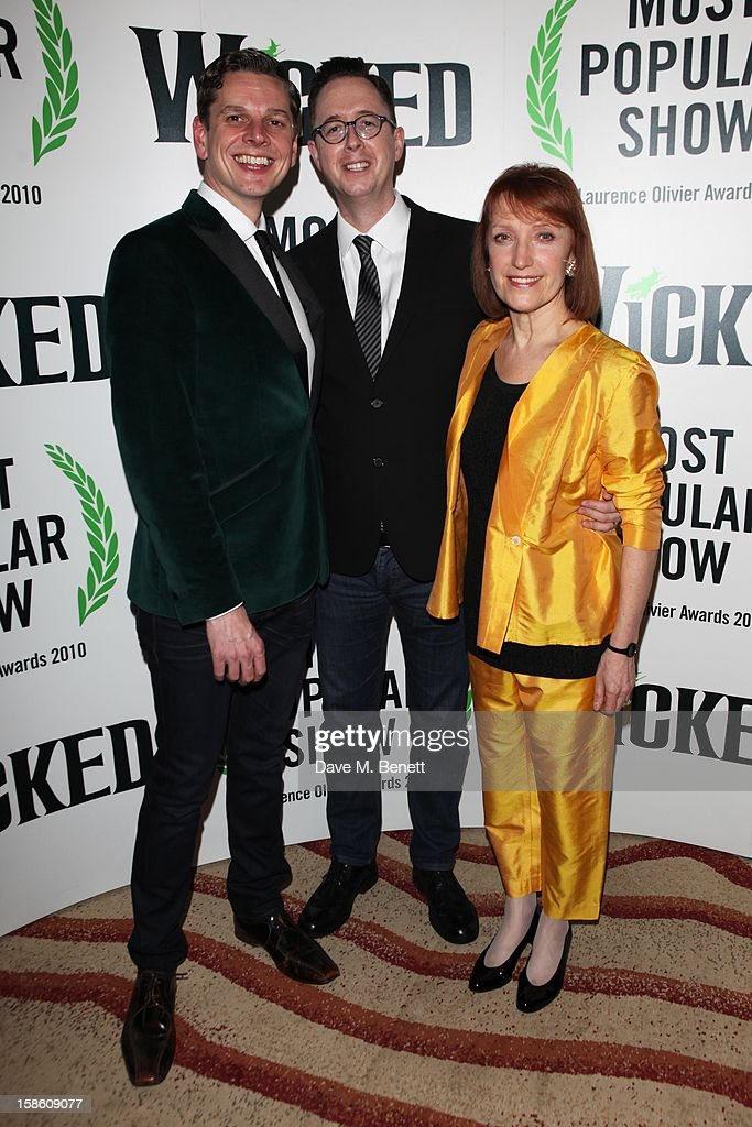 (L-R) Musical Director James Draisey, executive producer Michael McCabe and UK associate director Petra Siniawski attend the afterparty for the new cast members of 'Wicked' at the Victoria Plaza Hotel on December 20, 2012 in London, England.