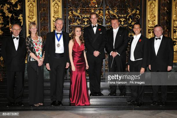 Musical Director of the Philharmonia Orchestra David Welton Lady Mayor Theresa Lewis Mayor David Lewis solo violinist Jennifer Pike Prince William...